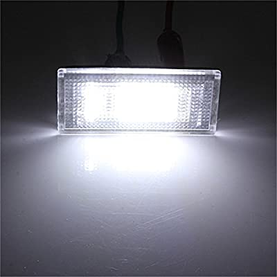 2 PCS Car LED Number License Plate Lights 6000K Plate Light Bulb For BMW/MINI COOPER S R50 R53 Accessories: Automotive