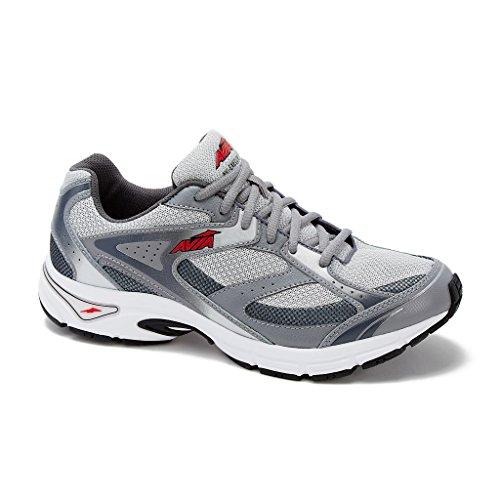 Avia Men's Avi-Execute Running Shoe 8.5 (4E) Silver/Grey/Red