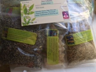 Herb Collection 10 ~ Wiccan Essentials ~ 10 Organic Herbs ~ signature ~ Ravenz Roost Herbs ~ 1/2 Oz Ea ~ Special Info in Labels