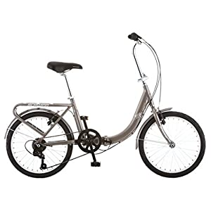 "Schwinn Loop 7 Speed Folding Bike, Titanium Silver, 16""/One Size/20"