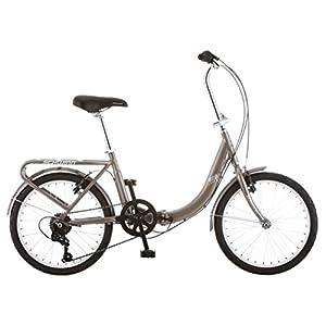 "Schwinn Loop 7 Speed Folding Bike, Titanium Silver, 16""/One Size/20"