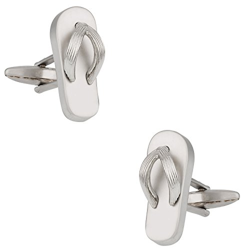 Cuff-Daddy Flip Flop Beach Lover No Shoes Cufflinks with Presentation Box