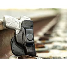 OUTBAGS USA LS2709 Full Grain Heavy Leather IWB Conceal Carry Gun Holster for Taurus PT 709 Slim 9mm. Handcrafted in USA.