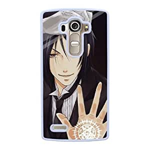 Grouden R Create and Design Phone Case,Black Butler Cell Phone Case for LG G4 White + 1*Touch Stylus Pen (Free) GHL-2880108