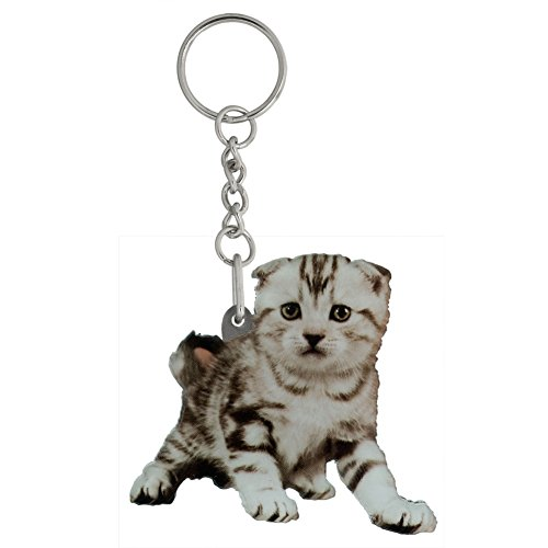 Got Yo Gifts Charlie Kute Kitten Mirrored Acrylic Keychain (Kute Kitten)