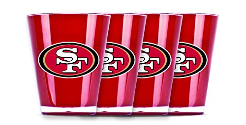 NFL San Francisco 49Ers Shot Glass Set (4-Piece) (Francisco Glass San 49ers Sports)