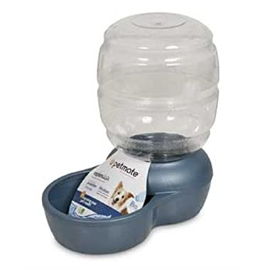 Petmate Replenish Pet Waterer with Microban, 2-1/2-Gallon, Pearl Peacock Blue