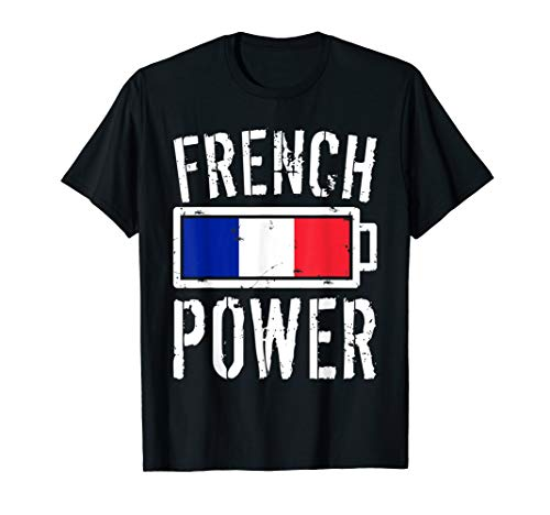 France Flag T-Shirt | French Power Battery Proud Tee ()