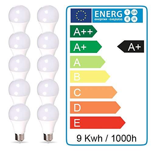 Lot de 10 Ampoules LED E27 9W equivalentce 60W 806lm Non-Dimmable Blanc neutre 4000K