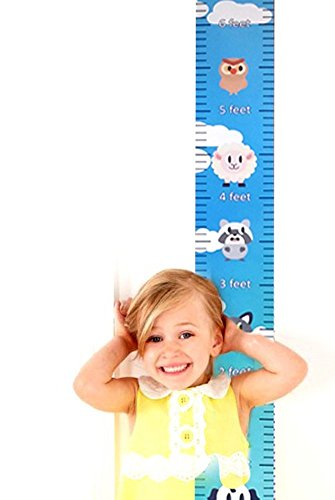 Colorful Height Chart -Growth Chart For Girls - Boys - Kids by Suhaship with Digital Printing | Baby Shower Gift-Nursery Wall Decor-Measure Growth & Height. (CUTE ANIMALS)