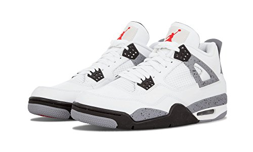 Nike Air Jordan 4 Retro 'Fire Red' White/Varsity Red-Black Trainer white/black-cement grey