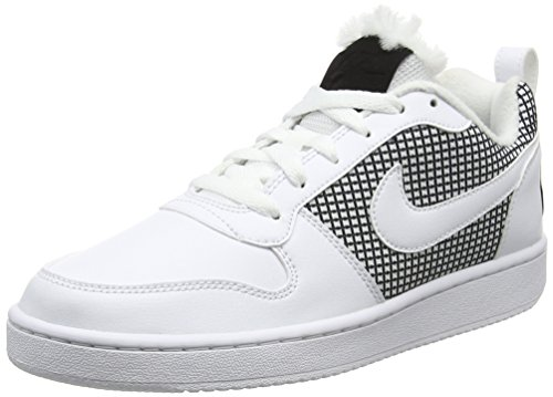 Nike Court Borough Se, Chaussures de Basketball Femme Blanc Cassé (White/white/black)