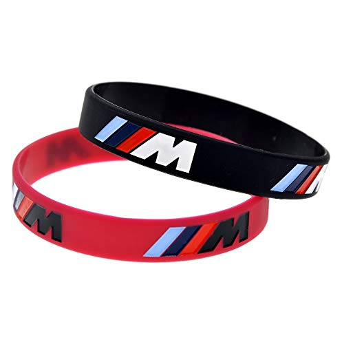 Car styling 1pcs Logo Engrave Hologram Bracelets Sport M Power Silicone Wristband Bangles For BMW Club Fans M3 M5 M6 3/5/7 Serie - (Color Name: As a picture) (Bmw E46 Type)