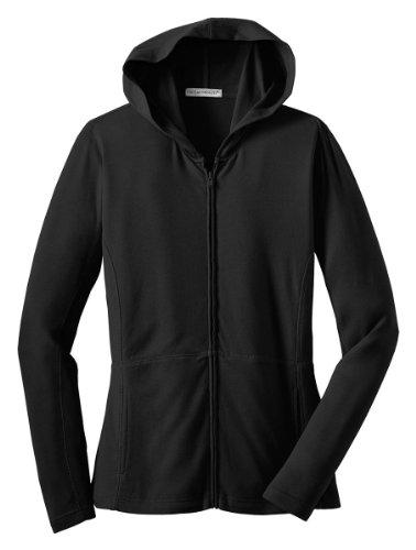 Port Authority Ladies Modern Stretch Cotton Full-Zip Jacket, Black, X-Large