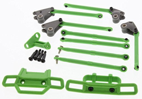 Traxxas 1 16 Grave Digger GREEN FRONT & REAR BUMPERS - LINKS - RODS & ROCKERS