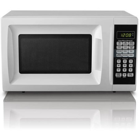 Hamilton Beach 0.7 cu ft Microwave Oven, features Child-safe lockout, 10 power levels (White)