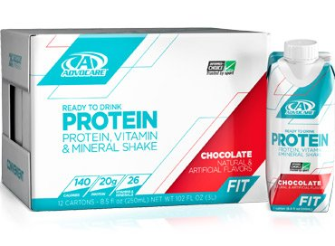 Advocare Ready-To-Drink Protein Vitamin and Mineral Shake – Chocolate