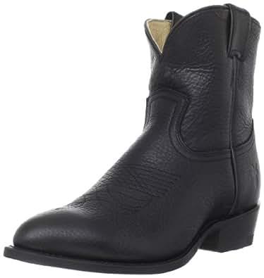 FRYE Women's Billy Short Boot, Black Pebbled Full Grain, 6 M US