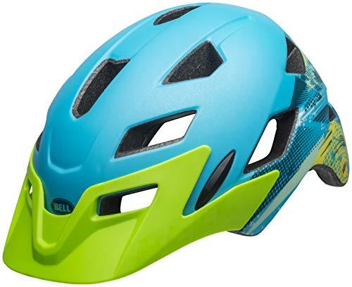 Bell Sidetrack Cycling Helmet - Kid's Gnarly Matte Bright Blue/Bright Green ()
