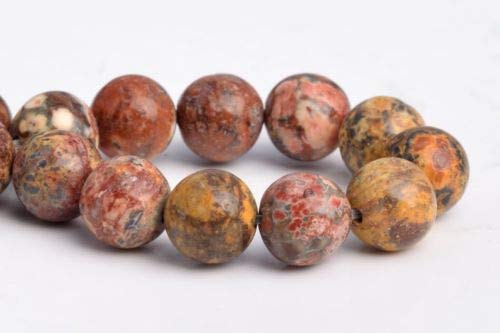 (6mm Natural Multicolor Leopard Skin Jasper Grade Round Loose Beads 7.5'' Crafting Key Chain Bracelet Necklace Jewelry Accessories Pendants)