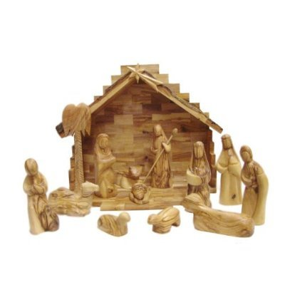 Olive Wood Nativity Set- Modern Style by zytoon