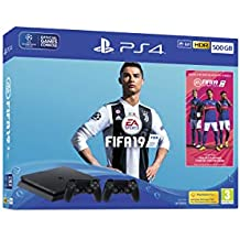 Playstation 4 Slim 500GB FIFA 19 Bundle Com 2 Controles Dualshock 4