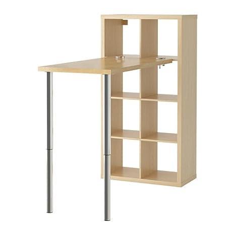 IKEA KALLAX - combinación de escritorio, efecto abedul - 77 x 147 ...