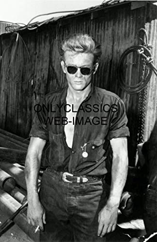 OnlyClassics Cool Actor James Dean Smoking Cigarette Wearing Sunglasses 11X17 Photo ()