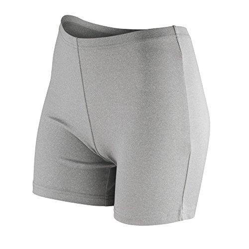 Spiro - Pantalones cortos de secado rápido para mujer Gris Nube