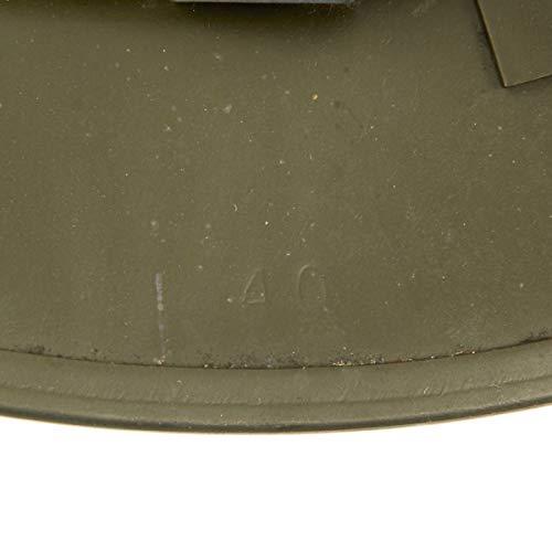 Original WWII Dated British Brodie Steel Helmet in OD Green - Genuine WW2