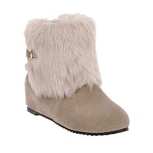 bbc8d6235df hot sale 2017 Carolbar Women s Faux Fur Fashion Cute Buckle Hidden Heel  Snow Boots