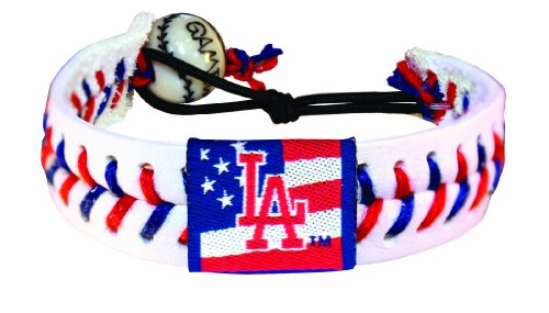 MLB Los Angeles Dodgers Stars and Stripes Classic Baseball Bracelet