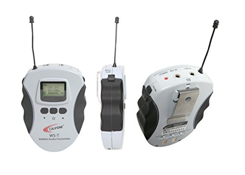 Califone WS-T Lightweight 16-Channel Wireless Audio System Transmitter for Assistive Listening WS ()