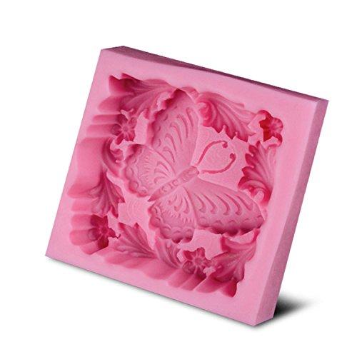 BAKER DEPOT mariposa suave silicona molde para jabón ...