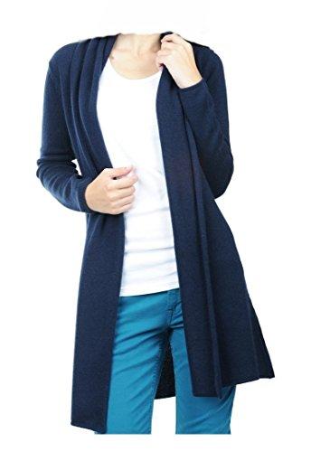 Balldiri 100% Cashmere Kaschmir Damen Strickjacke 4-fädig nachtblau XL