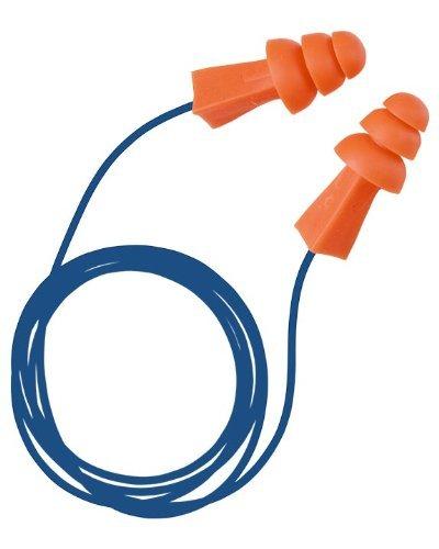 Tasco 9008 Tri-Grip (BX) Pre-Molded Earplugs,NRR=27,Corded in Plastic Cases,Orange (Pack of 50) [並行輸入品]   B07PKN2WF8