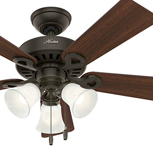 Hunter Fan 44 inch Traditional Ceiling fan in New Bronze Finish with LED Lights, 5 Blade (Renewed)