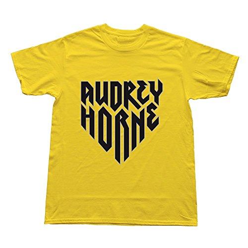 Goldfish Men's Style Slim Fit Audrey Horne T-Shirt Yellow US Size XS