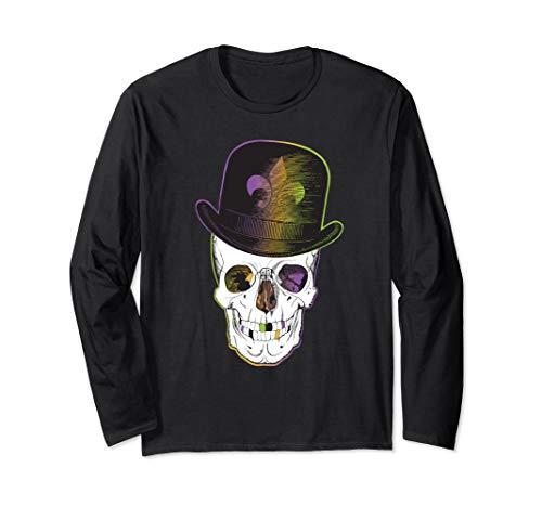 New Orleans Creole Voodoo Skull Halloween Long Sleeve T-Shirt (Best Jazz On Frenchmen Street New Orleans)