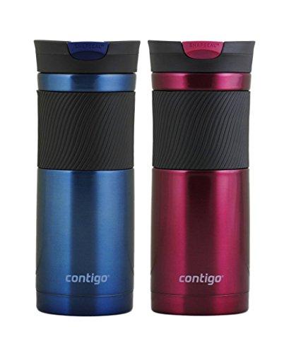 Contigo 20oz Byron SnapSeal Travel Mug, Monaco Blue & Vivacious by Contigo