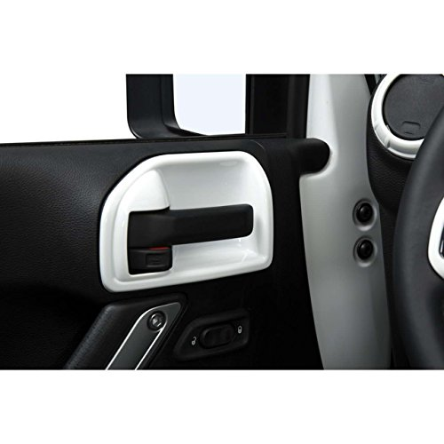 Opar White Inner Door Handle Recess Guard for 2011 - 2018 Jeep JK Wrangler 2-Door - 2PCS/Set