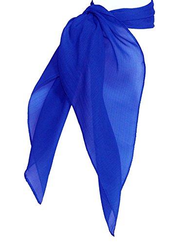 TC 50s Shop Vintage Style Sheer Chiffon Neck Purse Costume Scarf (ROYAL BLUE)