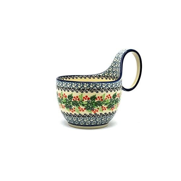 Polish Pottery Loop Handle Bowl – Holly Berry
