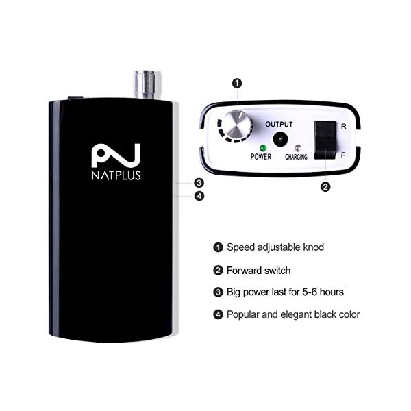 NATPLUS Professional Nail Drill Machine 30000 RPM Upgrade with Tool Bag Portable Rechargeable E-file Electric Nail File Wireless Manicure Pedicure Set Acrylic Nail Tool for Gel Nail 110-220V. 5