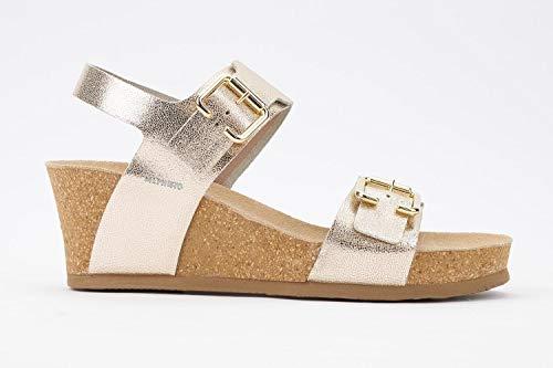 Mephisto Women's Lissandra Platform Dress Sandal, Platinum Vernis, 10 M US