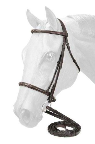 (Kathys Show Tack Fancy Stitched Raised Snaffle Bridle)