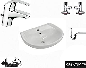 Waschbecken Waschtisch Keramag Renova Nr1 Grohe Armatur