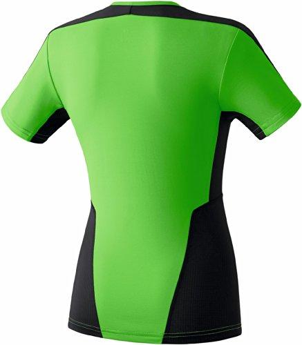 Erima Premium One - Camiseta de tirantes para running, color verde y negro