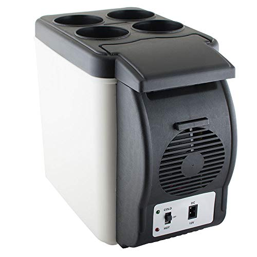 Pevor Mini Fridge Electric Cooler and Warmer 6L Portable Car Refrigerator 12V DC Vehicle Plugs by Pevor