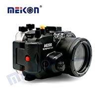 Meikon Underwater Housing Case for Sony A6300 Camera with 16-50mm Lens Diving Up to 40m/130ft+Sony Shutter Release Cable